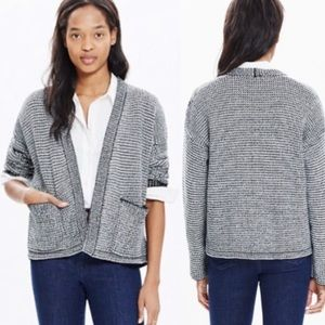 Madewell Textured Two Tone Cocoon Cardigan